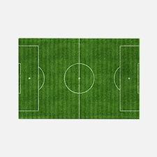 Unique Soccer field Rectangle Magnet