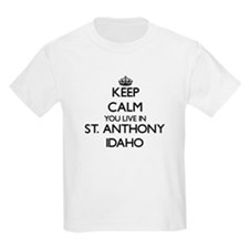 Keep calm you live in St. Anthony Idaho T-Shirt