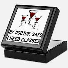 Doctor Says Wine Glasses Keepsake Box