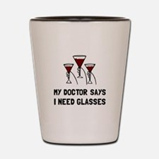 Doctor Says Wine Glasses Shot Glass