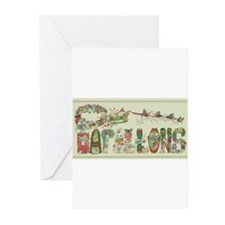 Christmas Papillons and Phalenes Greeting Cards