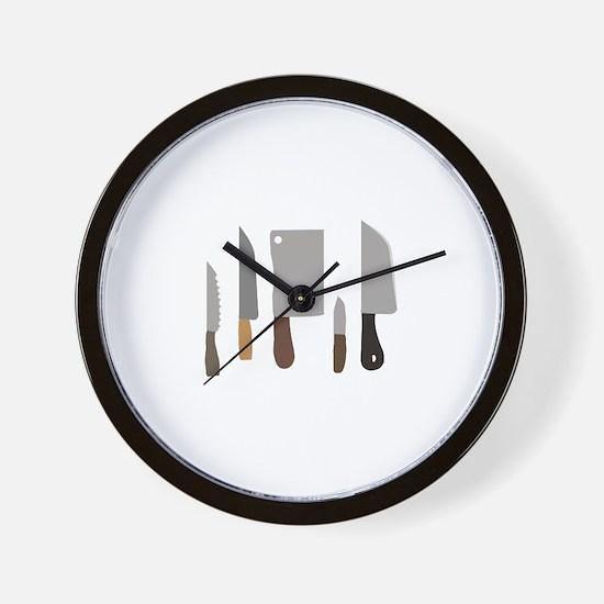Chef Knives Wall Clock