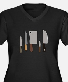 Chef Knives Plus Size T-Shirt