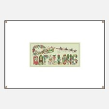 Christmas Papillons and Phalenes Banner