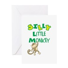 SILLY LITTLE MONKEY Greeting Cards