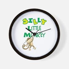 SILLY LITTLE MONKEY Wall Clock