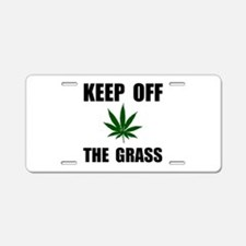 Keep Off The Grass Aluminum License Plate