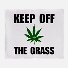 Keep Off The Grass Throw Blanket
