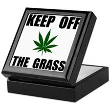 Keep Off The Grass Keepsake Box