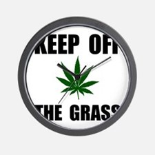 Keep Off The Grass Wall Clock