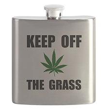 Keep Off The Grass Flask
