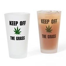 Keep Off The Grass Drinking Glass
