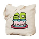 20 Year Old Birthday Cake Tote Bag