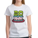 20 Year Old Birthday Cake Women's T-Shirt