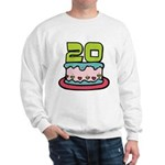20 Year Old Birthday Cake Sweatshirt