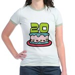 20 Year Old Birthday Cake Jr. Ringer T-Shirt