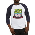 20 Year Old Birthday Cake Baseball Jersey