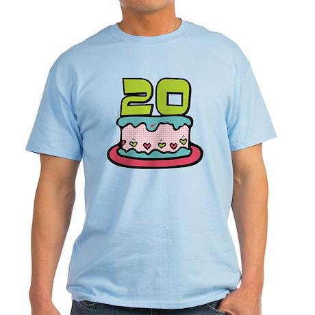 20 Year Old Birthday Cake Light T-Shirt