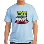 20 Year Old Birthday Cake Light T-Shirt