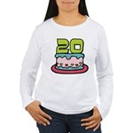 20 Year Old Birthday Cake Women's Long Sleeve Tee