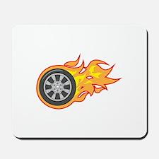 FLAMING TIRE Mousepad