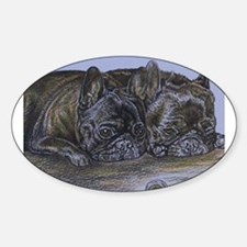 French Bulldogs with Snail Decal