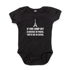 Paris Bridge In Seine Baby Bodysuit
