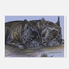 French Bulldogs with Snai Postcards (Package of 8)
