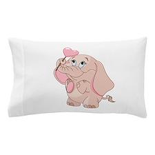 Pink Cartoon Elephant Pillow Case