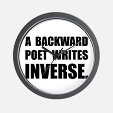 Poet Writes Inverse Wall Clock