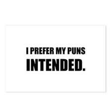 Prefer Puns Intended Postcards (Package of 8)
