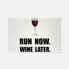 Run Now Wine Later Magnets