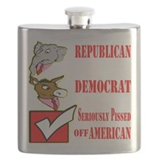 Seriously Pissed American Flask