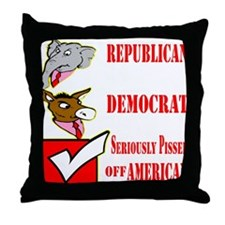Seriously Pissed American Throw Pillow
