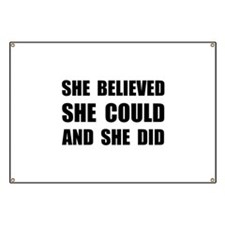 She Believed She Could Banner