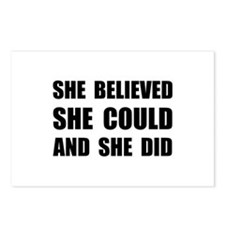 She Believed She Could Postcards (Package of 8)