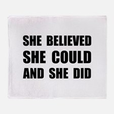 She Believed She Could Throw Blanket