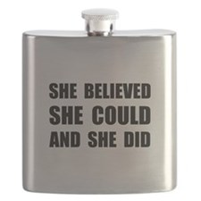 She Believed She Could Flask