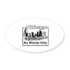 Windy City Oval Car Magnet