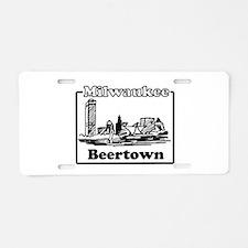 Beertown Aluminum License Plate
