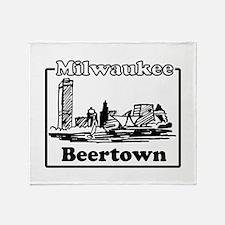 Beertown Throw Blanket