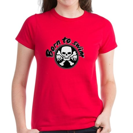 born to swim Women's Dark T-Shirt