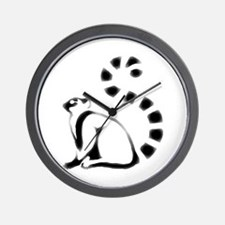 Mark of the Lemur Wall Clock