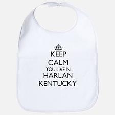 Keep calm you live in Harlan Kentucky Bib