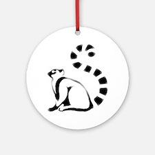 Dirty Lemur Ornament (Round)