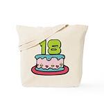 18 Year Old Birthday Cake Tote Bag