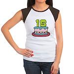 18 Year Old Birthday Cake Women's Cap Sleeve Tee