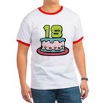 18 Year Old Birthday Cake Ringer T