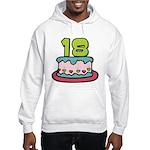 18 Year Old Birthday Cake Hooded Sweatshirt
