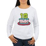 18 Year Old Birthday Cake Women's Long Sleeve Tee